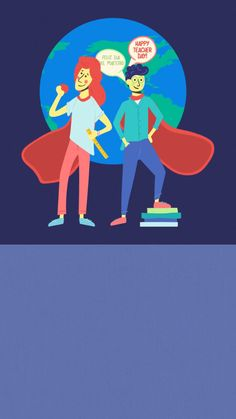 Celebrate teachers around the world on World Teachers' Day, also known as International Teachers Day (October with this animated Evite invitation. World Teacher Day, World Teachers, International Teachers Day, After School, Back To School, October 5th, Teachers' Day, Graphic Design Posters, Book Club Books