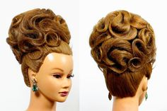 Hairstyles for medium long hair. Updo hairstyles. Bridal wedding hairstyles