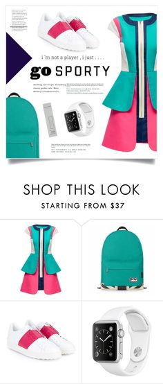"""""""Go Sporty!"""" by marina-volaric ❤ liked on Polyvore featuring Lattori, Valentino, Burberry and sportystyle"""