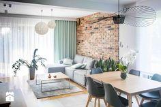 Projekt domu szeregowego - Salon - zdjęcie od Biuro projektowe Joanna Karwowska