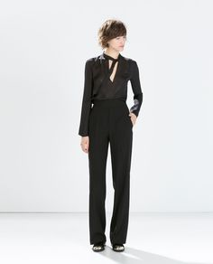 Image 1 of HIGH-WAISTED WIDE TROUSERS from Zara