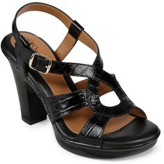 Eurosoft(TM) by Sofft Vaya Slingback Sandals ($45) ❤ liked on Polyvore