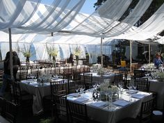 forget the centerpieces....check out that tent!