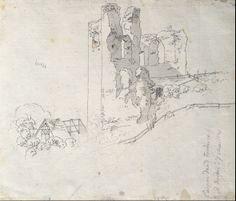 Caspar David Friedrich: Ruinas del tejado de una granja (1799)