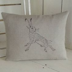 Our beautifully simplistic natural linen hare cushion is handmade in the UK and would add the perfect touch of sophistication to any home or office.
