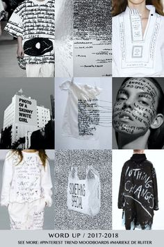 TENDENCIA WORD-UP - PALABRAS - Palabras por todas partes #coolhunting #trend #patterns #estampados #prints www.coolhunting.pro