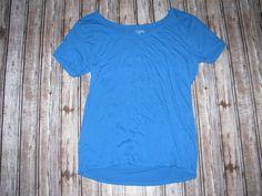 M Ladies City Streets Lightweight Blue Short Sleeve T-Shirt Top Juniors Size XS