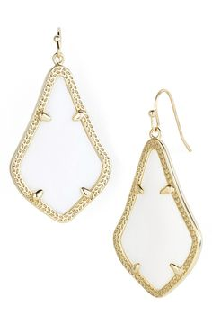 Crushing on these glossy stone earrings from Kendra Scott!
