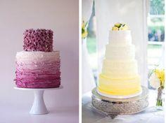 Ombre wedding cakes.