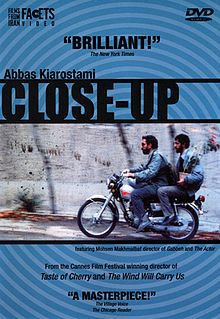 Close-Up. Iran. Docufiction. Story of the real-life trial of a man who impersonated filmmaker Mohsen Makhmalbaf. Directed by Abbas Kiarostami. 1990