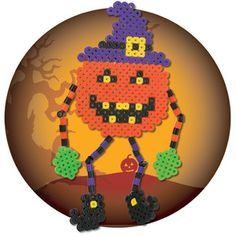 Halloween pumpkin perler beads