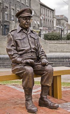 Statue of Captain George Mainwaring erected in the Norfolk town of Thetford.