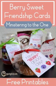 Berry Sweet Friendship Cards to Help You Minister to the One — Chicken Scratch N Sniff Primary Songs, Primary Lessons, Primary Program, Lds Primary, Ministering Lds, Relief Society Activities, Relief Society Lessons, Visiting Teaching Handouts, Teaching Methods