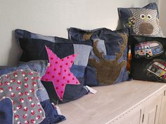 Kissen Jeans-upcycling