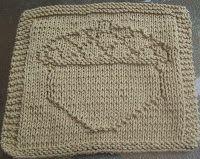 DigKnitty Designs: Big Acorn Knit Dishcloth Pattern