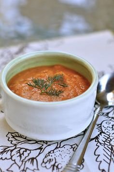 Dilled Carrot Soup from Kate at Everything Reconsidered. Gluten and Dairy Free. YUM!