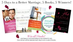 Win 5 books that will help you have a better marriage!