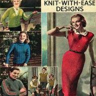 Vintage 1950s Knitting Patterns- 5 Designs Inc Dress, Jacket, Pullover, Cardigan Etc pdf download