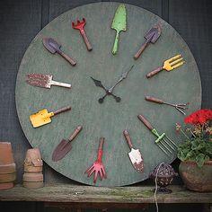 Wall Clock - Rustic Garden Tools - Multi Colour - Creative Co-Op 14% OFF | $299.00 - Milan Direct