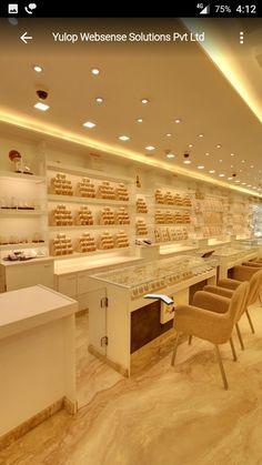 Jewellery Shop Design, Jewellery Showroom, Jewelry Shop, Jewelry Stores, Diy Jewellery, Trendy Jewelry, Jewellery Storage, Showroom Interior Design, Partition Design