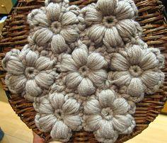 Crochet flower art