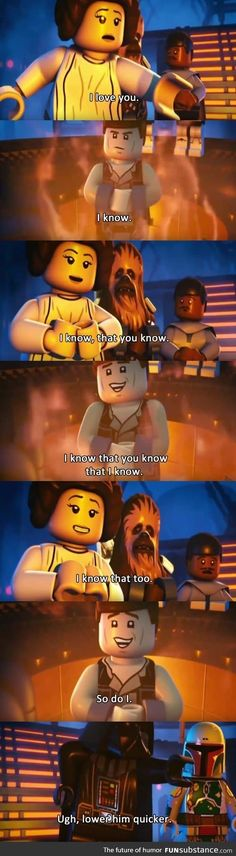 A Star Wars love story... Niko would love any Star-Wars-themed lego sets!!!