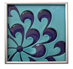 Love....love this one  Custom Order of Four Kiln Blown Glass Tiles for Christy