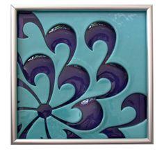 Love....love this one  Custom Order of Four Kiln Blown Glass Tiles for Christy