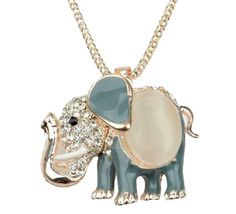 Shop the latest Blue Jewlery products on Wanelo, the world's biggest shopping mall. Elephant Jewelry, Elephant Necklace, Elephant Gifts, Zales Jewelry, Beaded Jewelry, Jewlery, Jewelry Accessories, Bling, Pendant Necklace