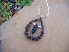 Nature Inspired Burgundy Ruby Brecciated by MountainUrsusDesigns, $29.00