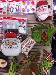 Holiday Burlap wall hangings