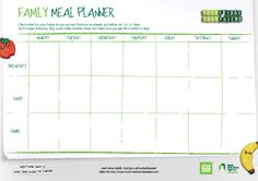 A helpful family meal time planner!