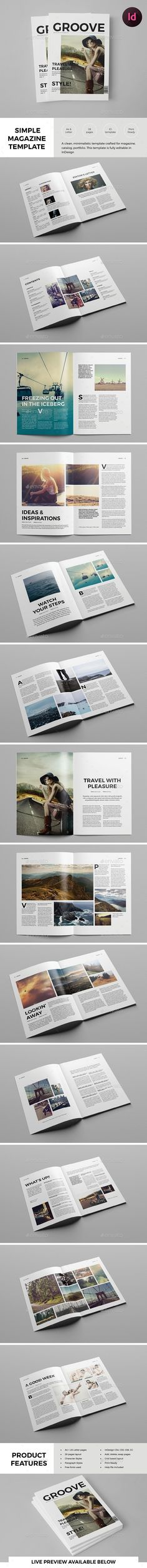 Clean Lifestyle Magazine Template  — InDesign Template #simple #magazine template • Download ➝ https://graphicriver.net/item/clean-lifestyle-magazine-template/18238552?ref=pxcr