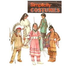 Simplicity 9145 Child's Native American Costumes - A - Smiths Depot Sewing Pattern Superstore American Indian Costume, Native American Costumes, Indian Costumes, Native American Clothing, Native American Design, Boy Costumes, Native American Indians, Halloween Costumes, Woman Costumes