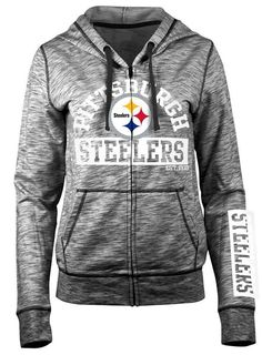 d1de5f775e8 Picture of Pittsburgh Steelers Women s 5th and Ocean Space-Dye Fleece  Hoodie Steelers Hoodie