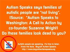 Autistic Community and Allies Boycott Autism Speaks 04/01 by AWN Radio   Health Podcasts