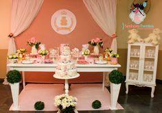 Senhora Eventos - Decoração Personalizada de Eventos!: Ursinha Princesa : Chá de fraldas Melissa