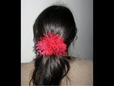 Shaggy Scrunchie Tutorial - Crochet Tutorial - http://www.knittingstory.eu/shaggy-scrunchie-tutorial-crochet-tutorial/