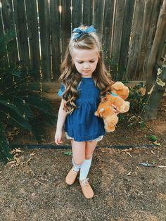 Little girl hairstyle half up half down