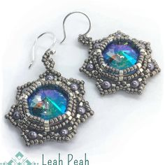 "Leah Wyckoff on Instagram: ""Should my Vanguard Earrings be my next tutorial? Visit me on Etsy (and Facebook!) and check out my downloadable Beading Patterns! Leah Peah…"""