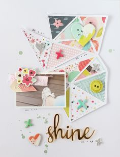 #papercrafting #scrapbooking #layout - LAYOUT - SHINE by EyoungLee at @studio_calico