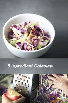 This simple coleslaw