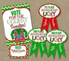 Ugly Sweater Party Voting Awards Ballots Sign  by thatpartygirl, $9.00