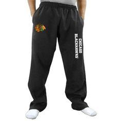 Chicago Blackhawks Two Hit Fleece Pants - Black
