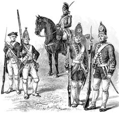 Hessians were 30,000 German troops hired by the British to help fight during the American Revolution. They gained this name from German state of Hesse. Hessians made up a quarter of all British soldiers sent to America.