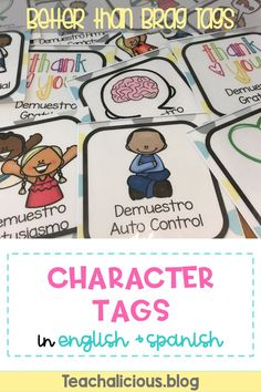 Stop managing and start teaching! Encourage positive behavior and growth mindset from students with these positive character tags. Improve your classroom culture by using positive reinforcement and awarding these character trait tags as students show growth in these areas. Ideal for PBIS schools. Character tags available in English & Spanish.  #growthmindset #charactercounts #classroomculture