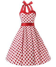 Dresstells Halter 50s Rockabilly polka dots dots dress petticoat pleated skirt White Red Dot S Dresstells http://www.amazon.co.uk/dp/B018WUQFCG/ref=cm_sw_r_pi_dp_gn5Dwb1X11H0W