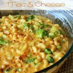 Add ham or sausage to make this a main dish - Broccoli Cheddar Mac & Cheese - This unique meat-free dish combines the flavors of traditional macaroni & cheese with broccoli cheddar soup! Cheddar Mac And Cheese, Broccoli Cheddar, Mac Cheese, Macaroni Cheese, Cheese Sauce, Broccoli Soup, Broccoli Recipes, Think Food, Gastronomia