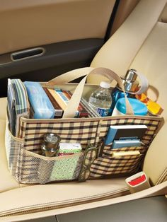 Car Organizer Bag - Keep your car tidy by organizing tissues maps CDs snacks sunglasses | Solutions