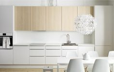 IKEA kitchen products to help you get your place refreshed and renewed. DIY ideas for updating your kitchen. Updating your kitchen can be inexpensive. Kitchen Interior, Kitchen Decor, Kitchen Design, Room Kitchen, Kitchen Living, Deco Zen, Kitchen Supplies, Cuisines Design, Open Kitchen